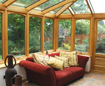 Natural Oak Hardwood Conservatory Sunroom